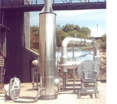 a large pyrolysis unit