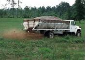 fertilizer truck in a field